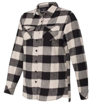 Ladies Black/Ecru Flannel