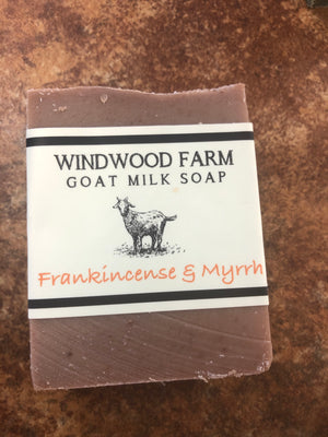 Goat Milk Soap Frankincense and Myy