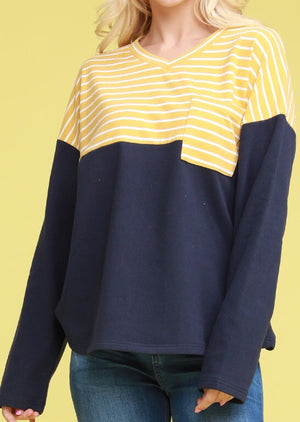 Blue and Yellow Sweatshirt