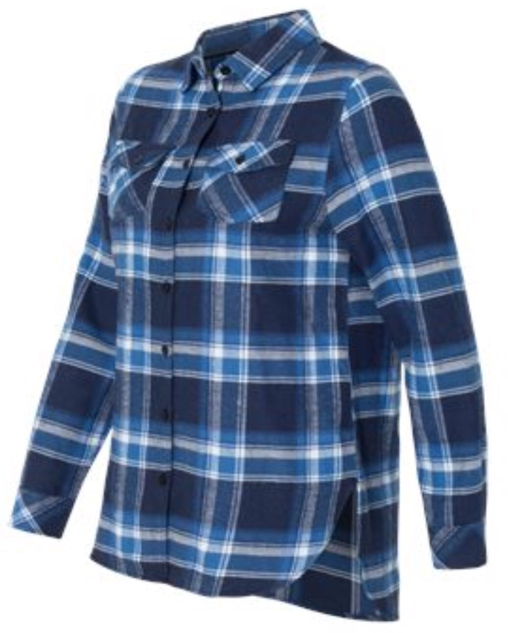 Ladies Blue/White Flannel