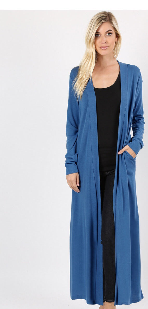 Blue mist long sweater