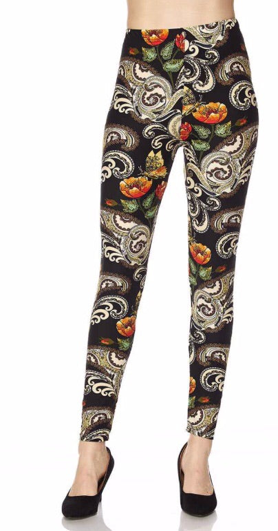 Poppy Paisley Leggings