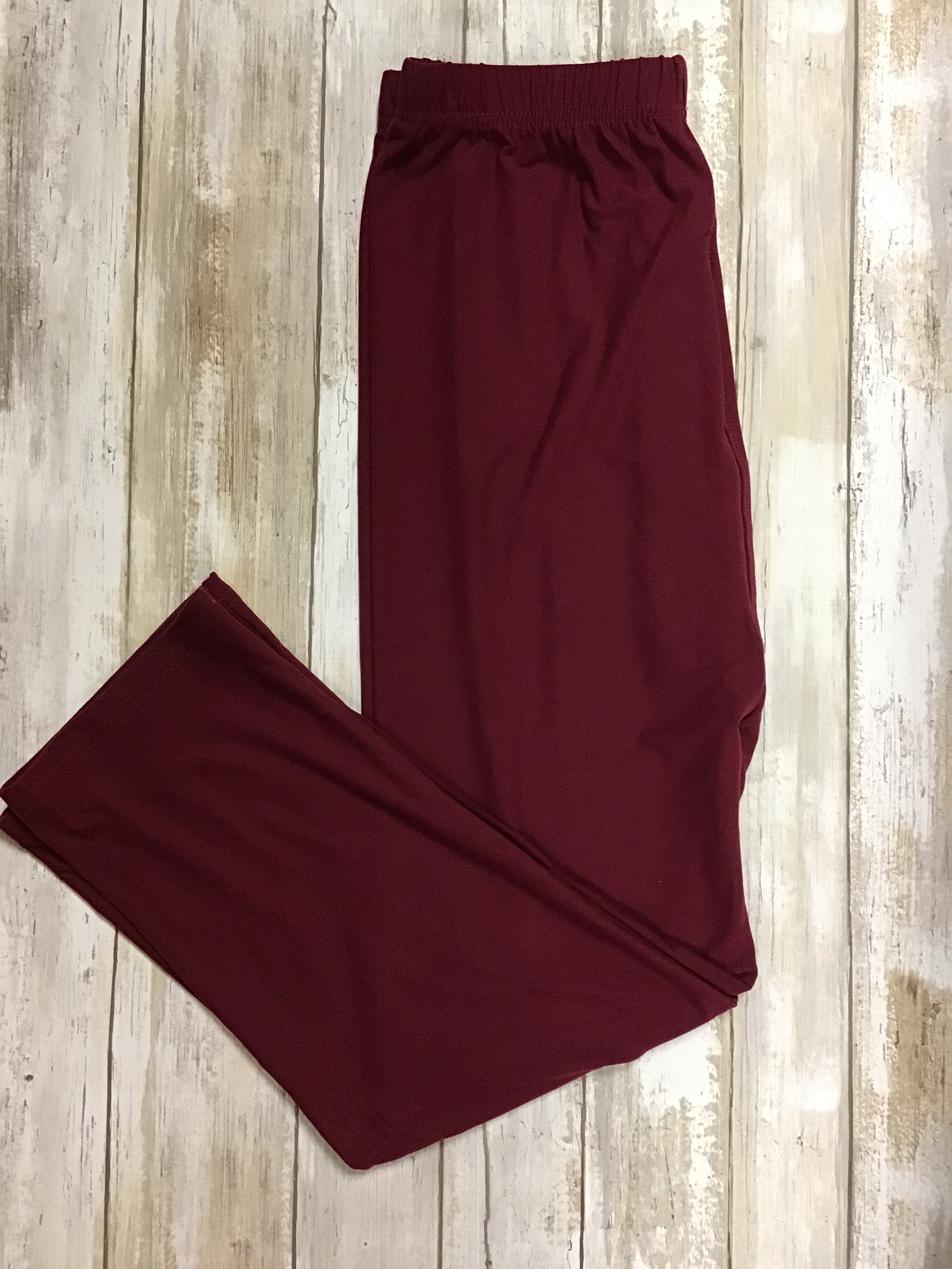 Capri burgundy leggings