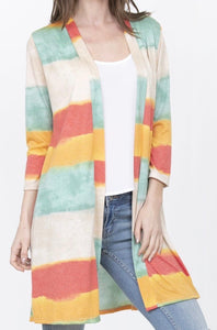 Striped and Dyed Cardigan