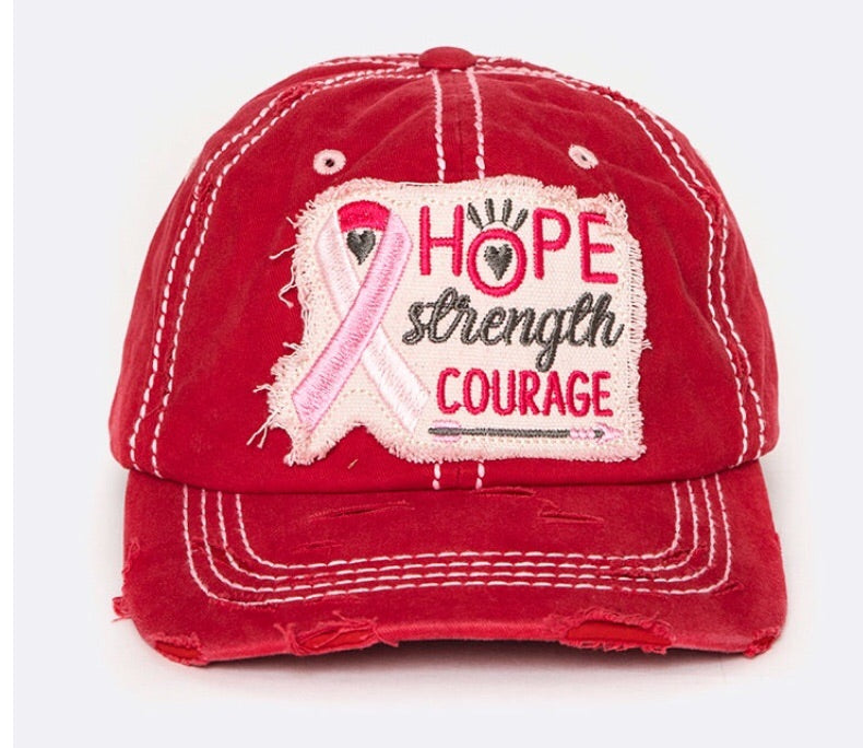 Hope Strength Courage Hat