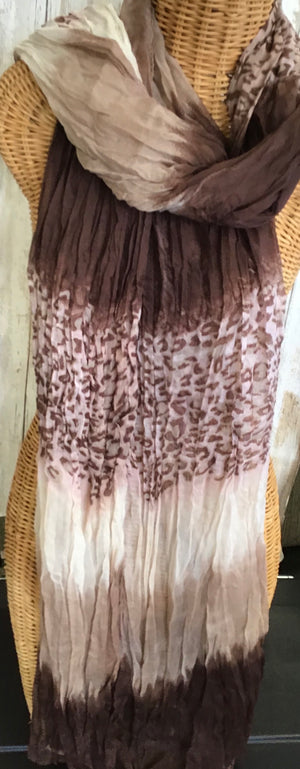 Scarf Brown Animal Print