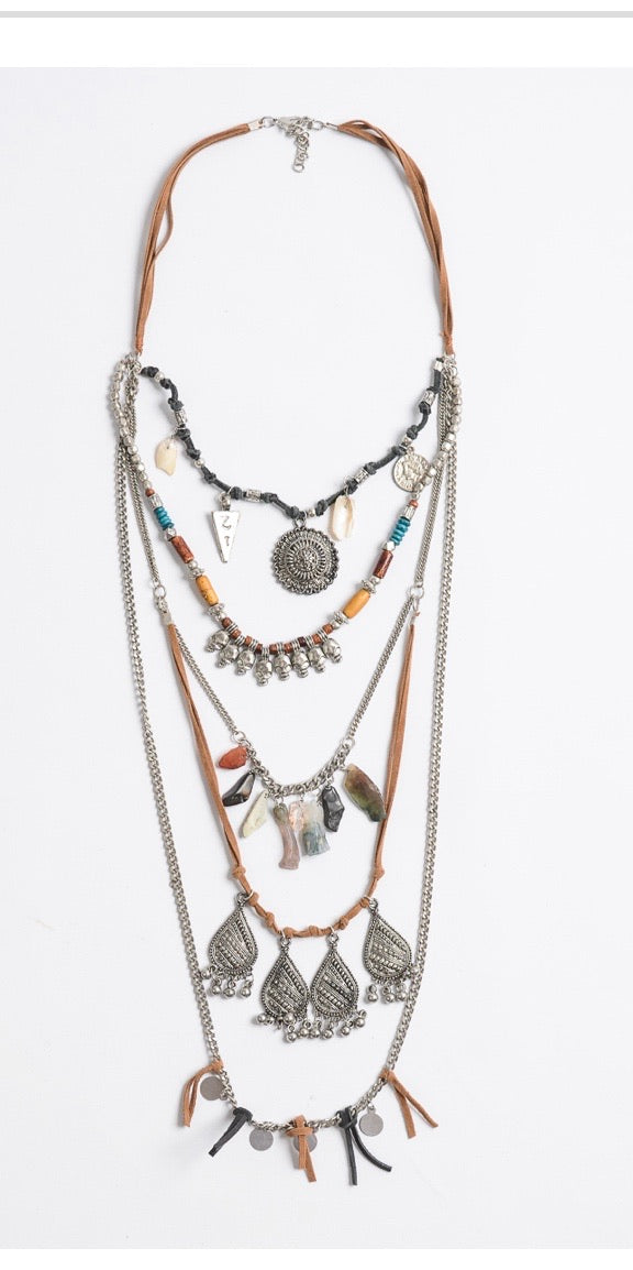 "Multi-layer 22"" necklace"