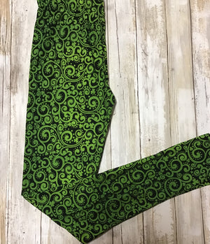 Leggings Green Swirl (Buttery Soft)