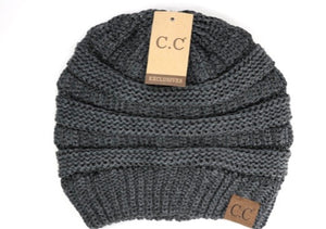 CC Beanie Dark Metallic Gray
