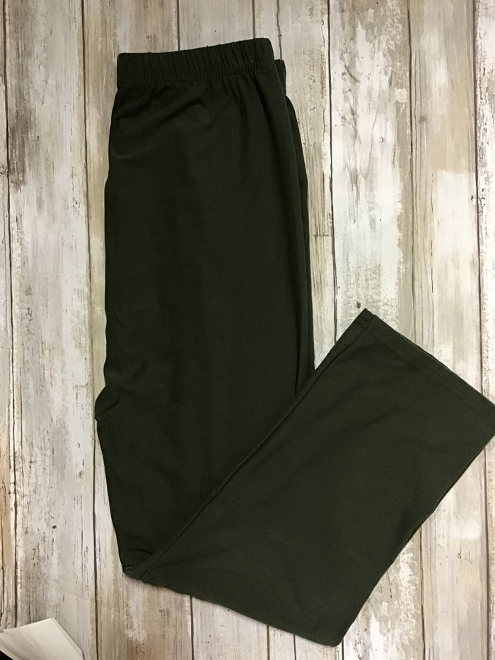 Capri Olive buttery soft leggings