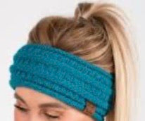 CC Cable Knit Headband Teal