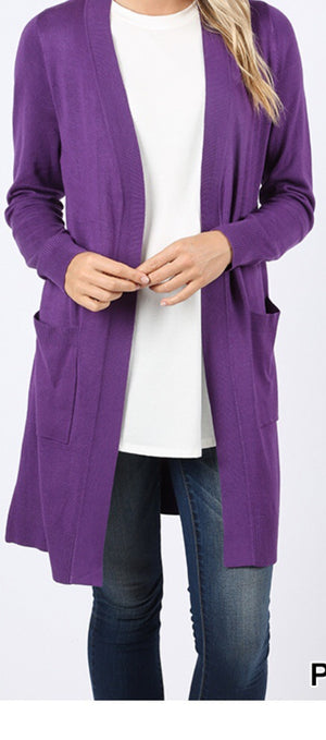 Purple Cardigan Plus