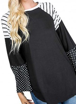 Polka Dot / Striped Tunic