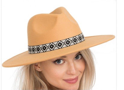 Camel Tribal Fedora