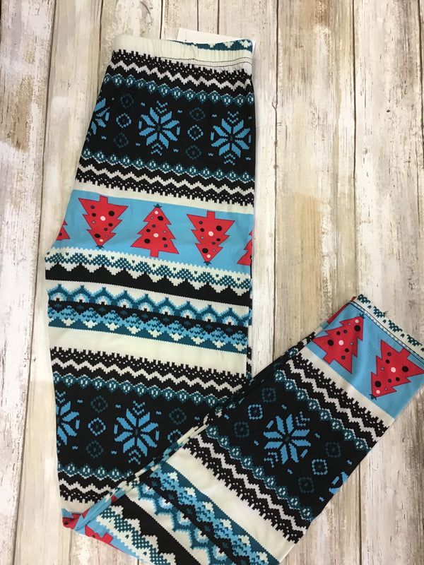 Leggings Blue Christmas (Buttery Soft)
