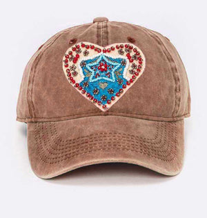 Beaded Heart Hat