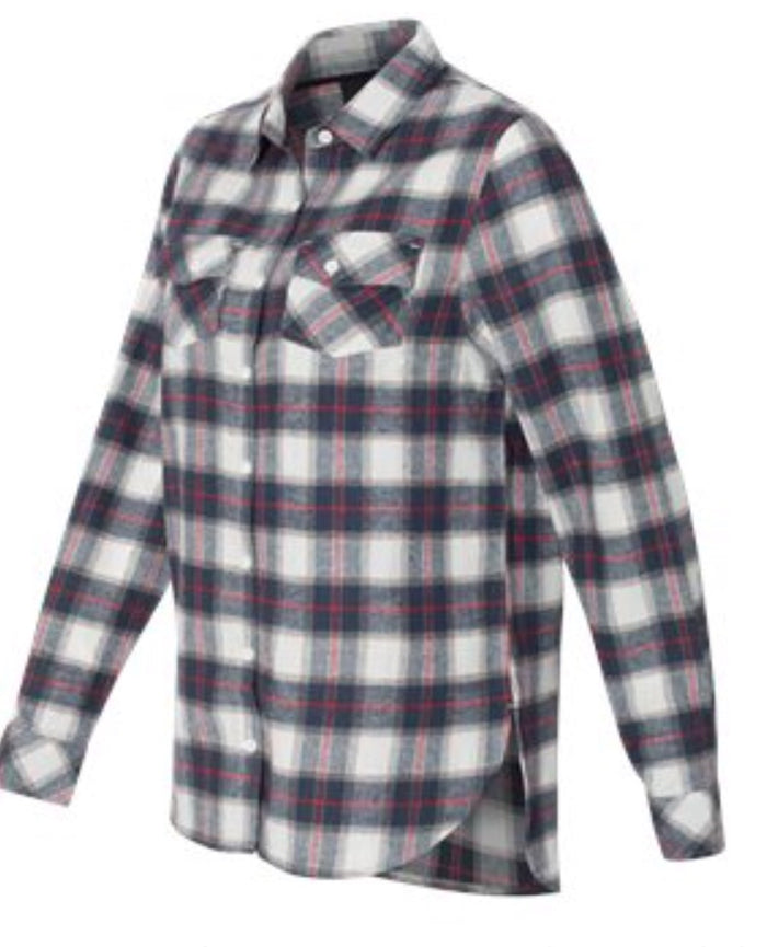 Ladies Red/White Flannel