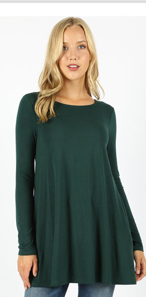 Hunter Green Long Sleeve Tunic