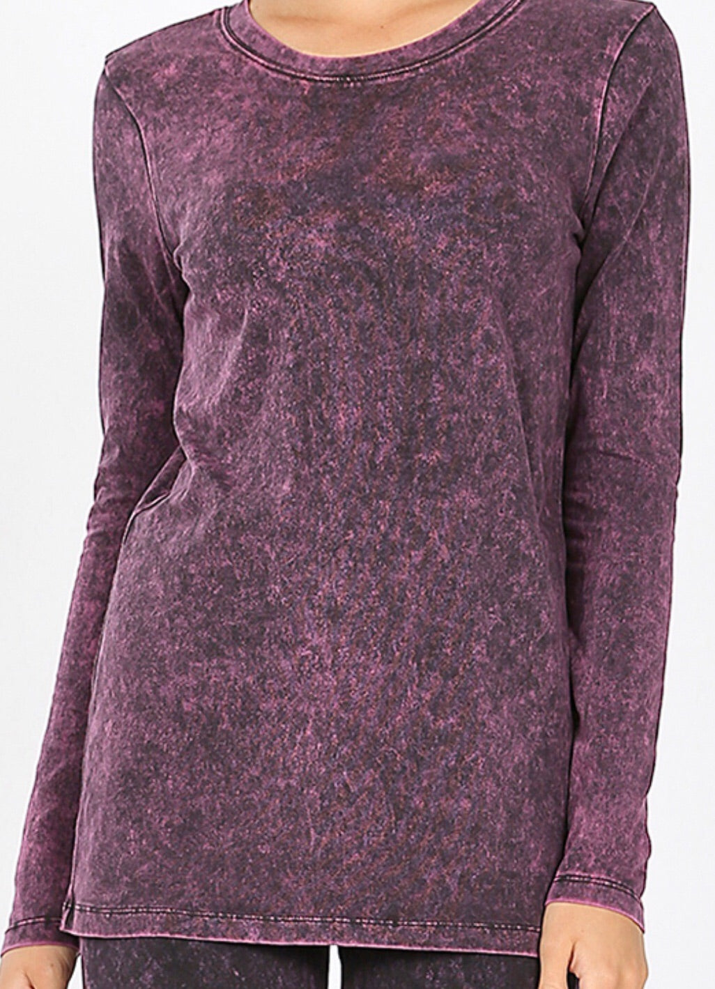Very Berry Mineral Wash Sweat Shirt