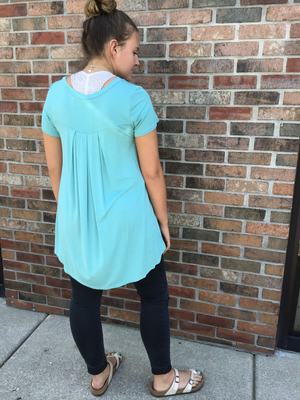 Nile Blue Hi - Low Tunic