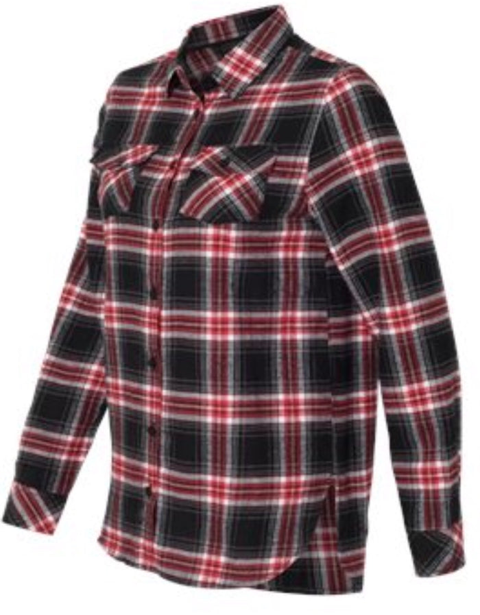 Ladies Red/Gray Flannel
