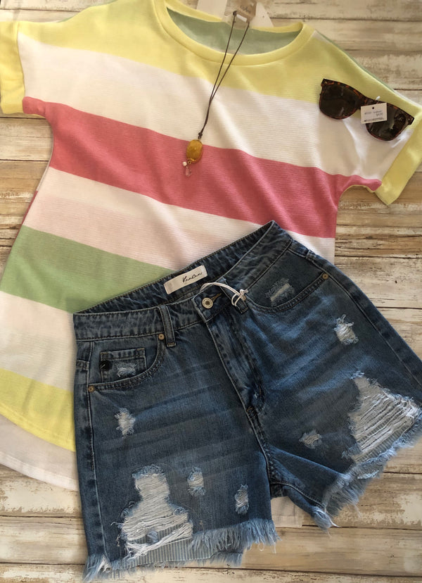 KanCan Lt Denim Shorts