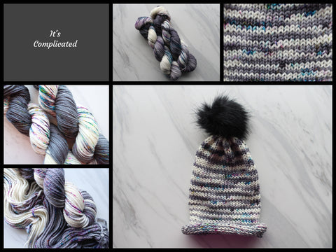 It's Complicated Yarn Colorway by Purple Lamb