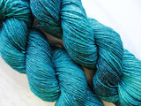 ANNUNCIATION BLUE on Sparkly Merino Sock