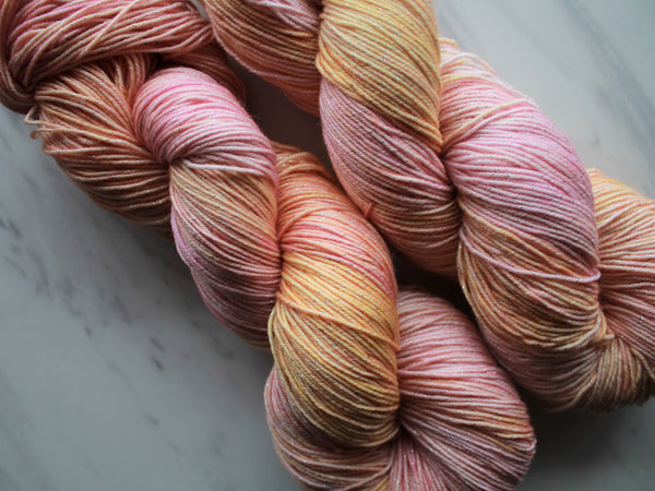 ARIZONA SUNSET on Sparkly Merino Sock
