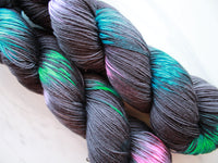 BLACK BUTTERFLY Handdyed Yarn on Sock Perfection