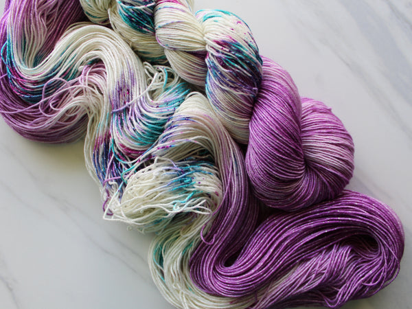 CARNEVALE on Sparkly Merino Sock