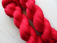 CHERRIES JUBILEE Handdyed Yarn on Sock Perfection