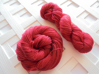 CHERRIES JUBILEE Hand-Dyed on So Silky Sock Yarn