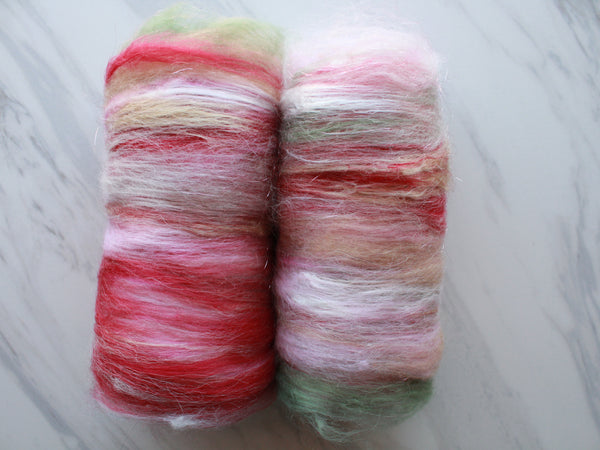 CHERRY BLOSSOMS Art Batts to Spin and Felt