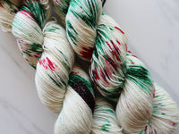 CHRISTMAS CANDY on Sparkly Merino Sock