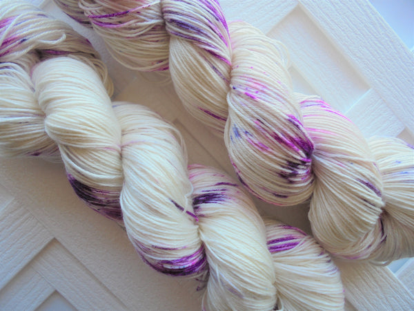PURPLE STAR PETUNIAS So Silky Sock-Weight Yarn