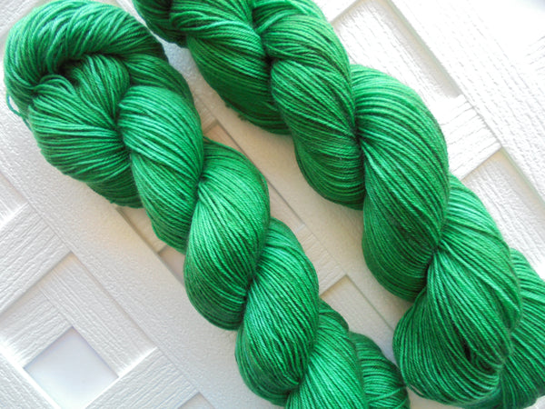 EMERALD GREEN on Sock Perfection Yarn