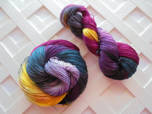 STAINED GLASS Handdyed Yarn on So Silky Sock Base