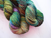 ENCHANTED FOREST on Sparkly Merino Sock