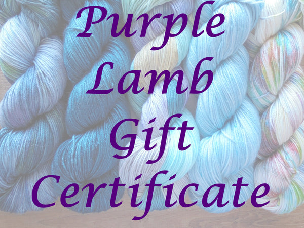 GIFT CERTIFICATE for Purple Lamb