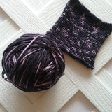 ONYX AND RUBIES Handdyed Ikat Yarn on Sock Perfection