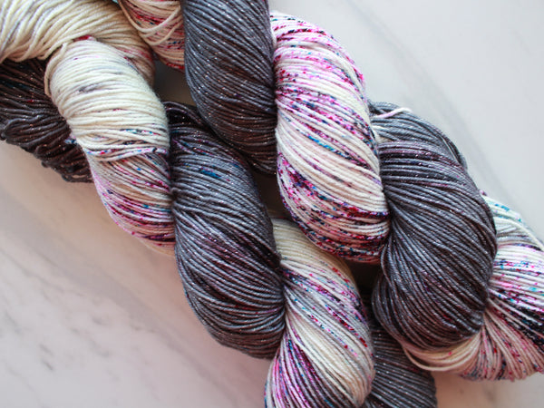 IT'S COMPLICATED on Sparkly Merino Sock