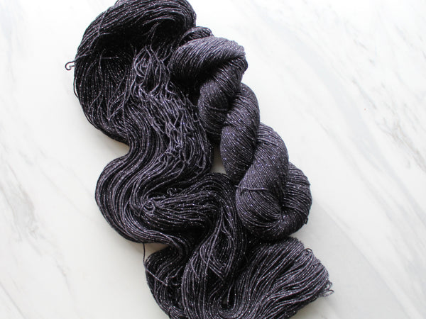LITTLE BLACK DRESS on Sparkly Merino Sock-Weight Yarn