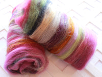 MIDSUMMER NIGHT'S DREAM Art Batt for Spinning and Felting