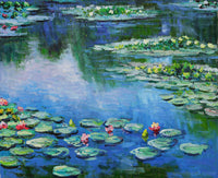 MONET'S WATER LILIES on So Silky Sock