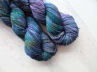 NEBULA on Sparkly Merino Sock Yarn
