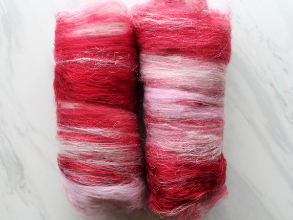 PEPPERMINT Art Batt for Spinning and Felting