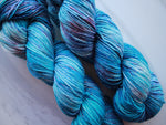 RHAPSODY IN BLUE on Sparkly Merino Sock