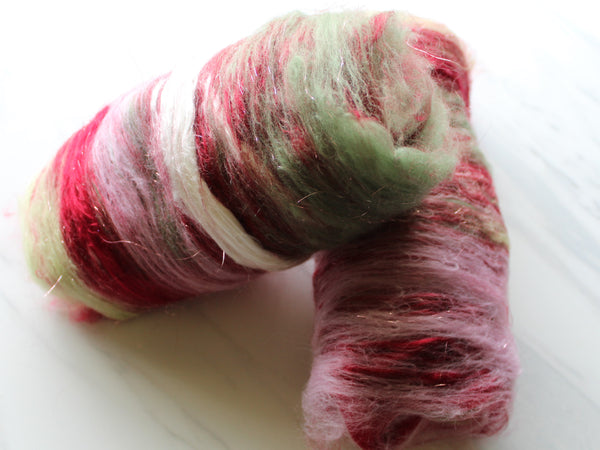 ROSE GARDEN Spinning Fiber Batts