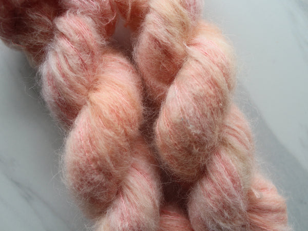SUNSET ORANGE on Alpaca Lace Cloud